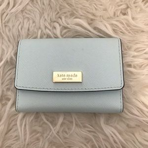 Kate Spade card holder in light blue